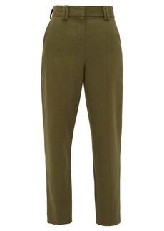 Balmain Carrot-leg grain de poudre trousers