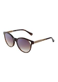 Balmain Cat-Eye Cutout Plastic Sunglasses