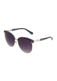 Balmain Cat-Eye Metal Sunglasses