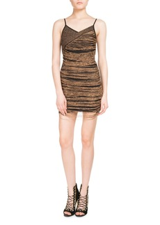 Balmain Chain-Wrap Slip Dress