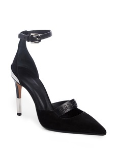 Balmain Chance Ankle Strap Pointy Toe Pump (Women)
