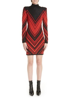 Balmain Chevron Embellished Minidress
