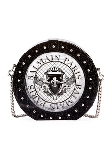 Balmain Circle Disco Plexiglass Minaudiere Bag