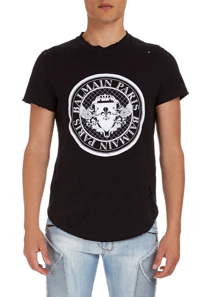 7a7d2260 Balmain Circle Logo Jersey T-Shirt   Casual Shirts