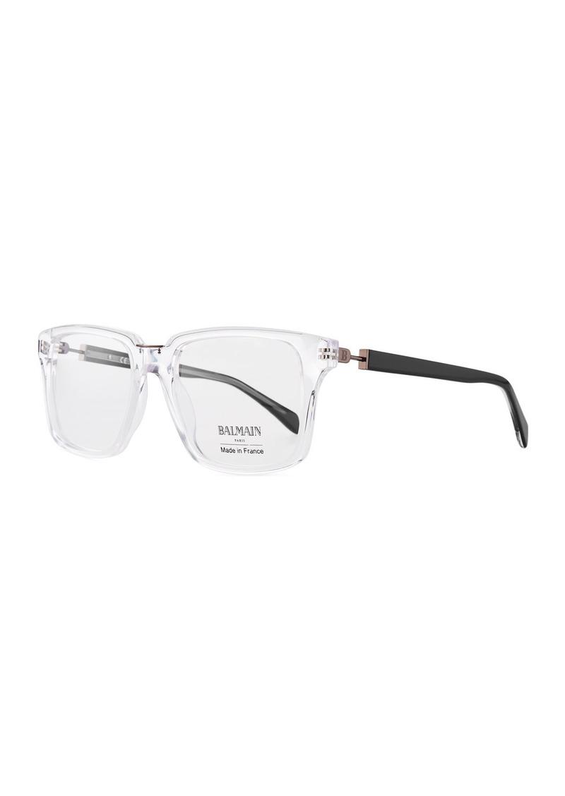 a4215358d6053 Balmain Clear Acetate Square Optical Glasses