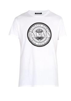 Balmain Coin logo-print T-shirt