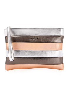 Balmain Colorblock Striped Pochette Wallet