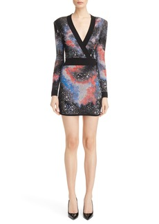 Balmain Constellation Jacquard Minidress