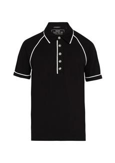 Balmain Cotton-piqué polo-shirt