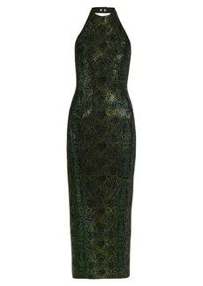 Balmain Crystal-embellished halterneck dress