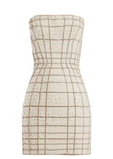 Balmain Crystal web-embellished tweed mini dress