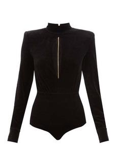 Balmain Cut-out velvet bodysuit
