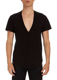 Balmain Deep V Cotton T-Shirt