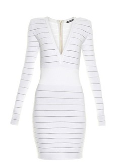 Balmain Deep V-neck knit dress