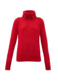 Balmain Detachable roll-neck wool-blend sweater