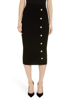 Balmain Diamond Knit Midi Skirt