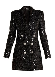 Balmain Double-breasted sequinned blazer dress