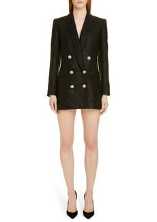 Balmain Double Breasted Tweed Blazer Dress