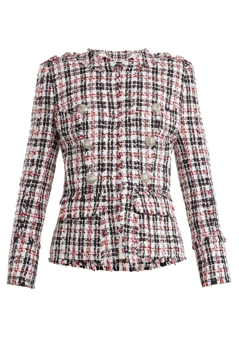 114462d42b42 Balmain Balmain Double-breasted tweed jacket