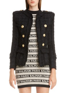 Balmain Double Breasted Tweed Jacket