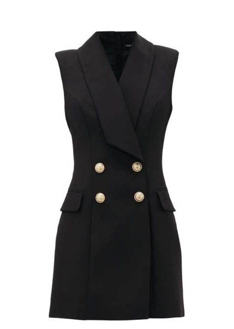 Balmain Double-breasted wool blazer dress