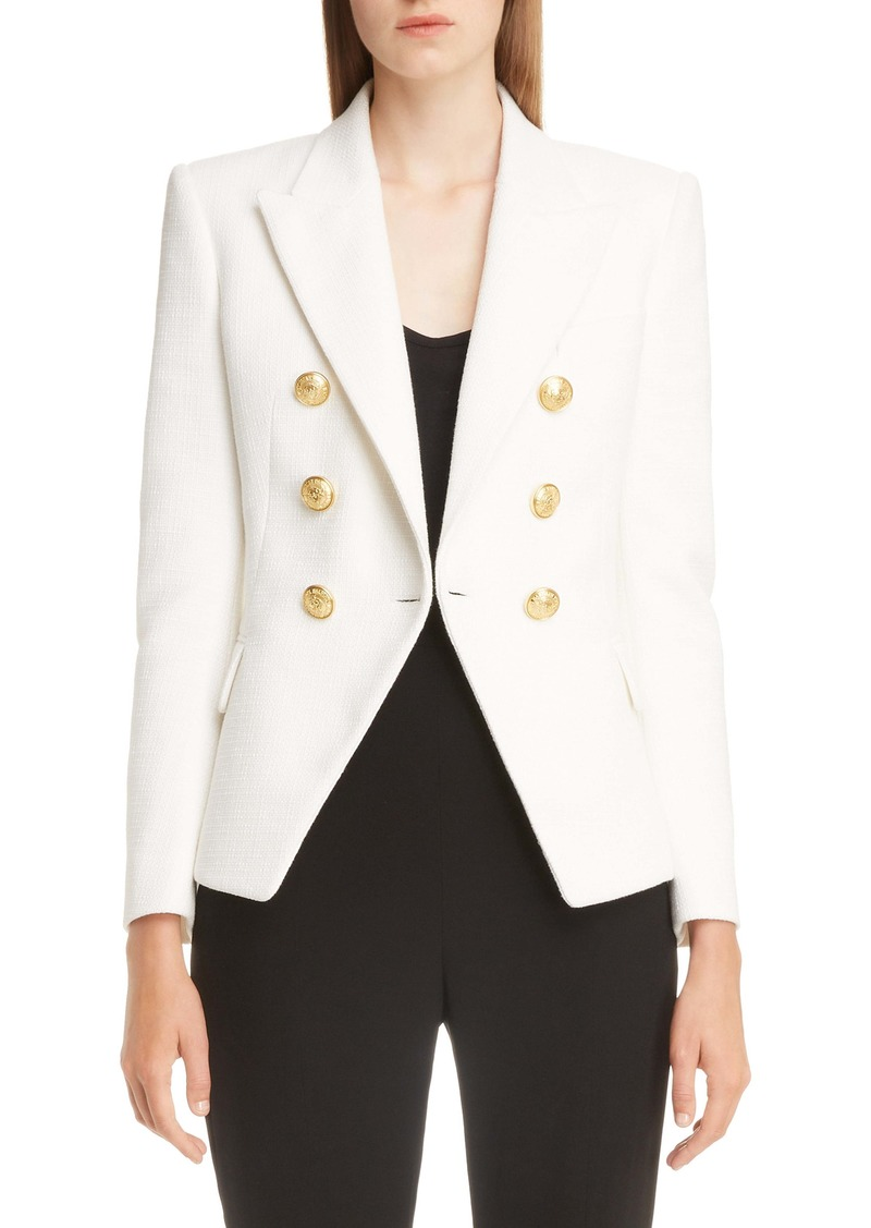 Balmain Double Breasted Wool Jacket
