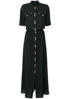 Balmain embellished button shirt dress - Black