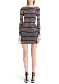 Balmain Embellished Stripe Minidress