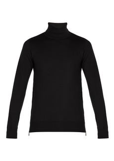 Balmain Embossed-coin roll-neck sweater