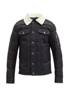 Balmain Faux-shearling collar quilted down jacket