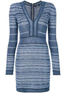 Balmain fitted body-con dress - Blue