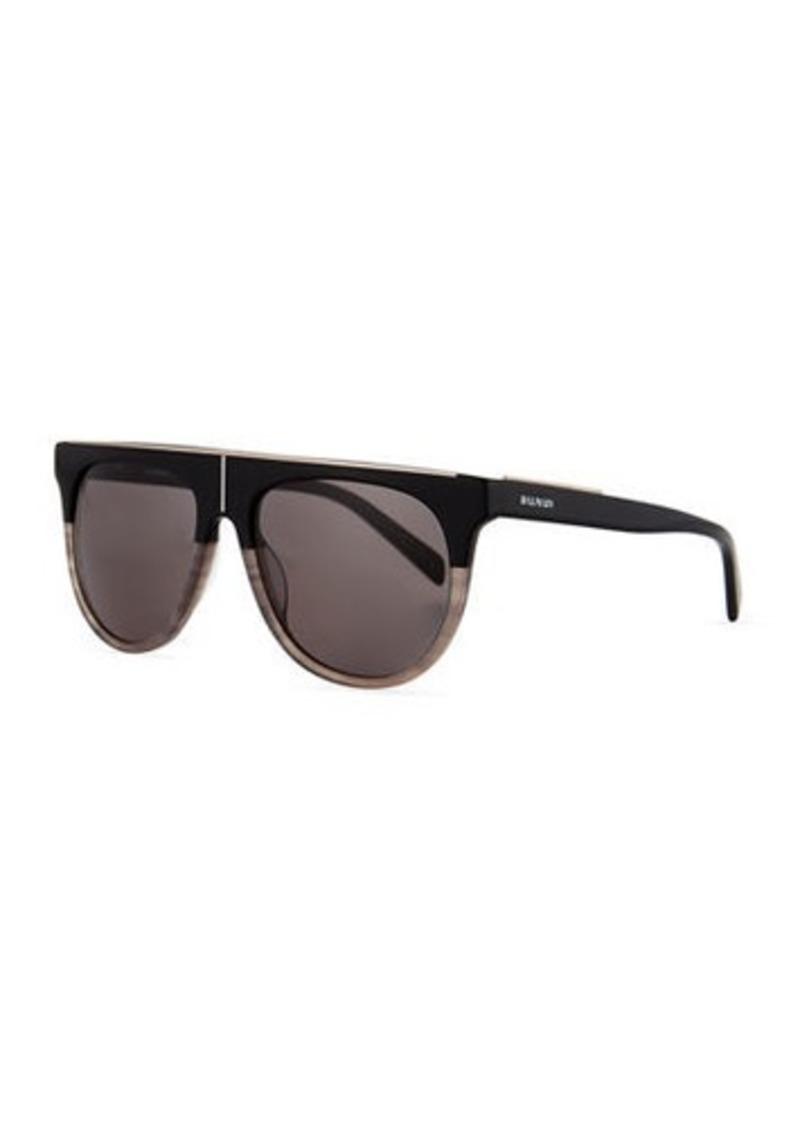 397531e5ff1 Balmain Flat-Top Aviator Sunglasses