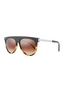 Balmain Flattop Two-Tone Acetate Aviator-Style Sunglasses