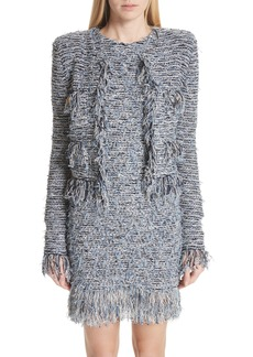 Balmain Fringe Tweed Jacket