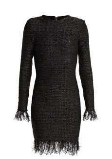 Balmain Fringed tweed dress