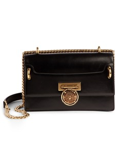Balmain Glace Leather Box Shoulder Bag
