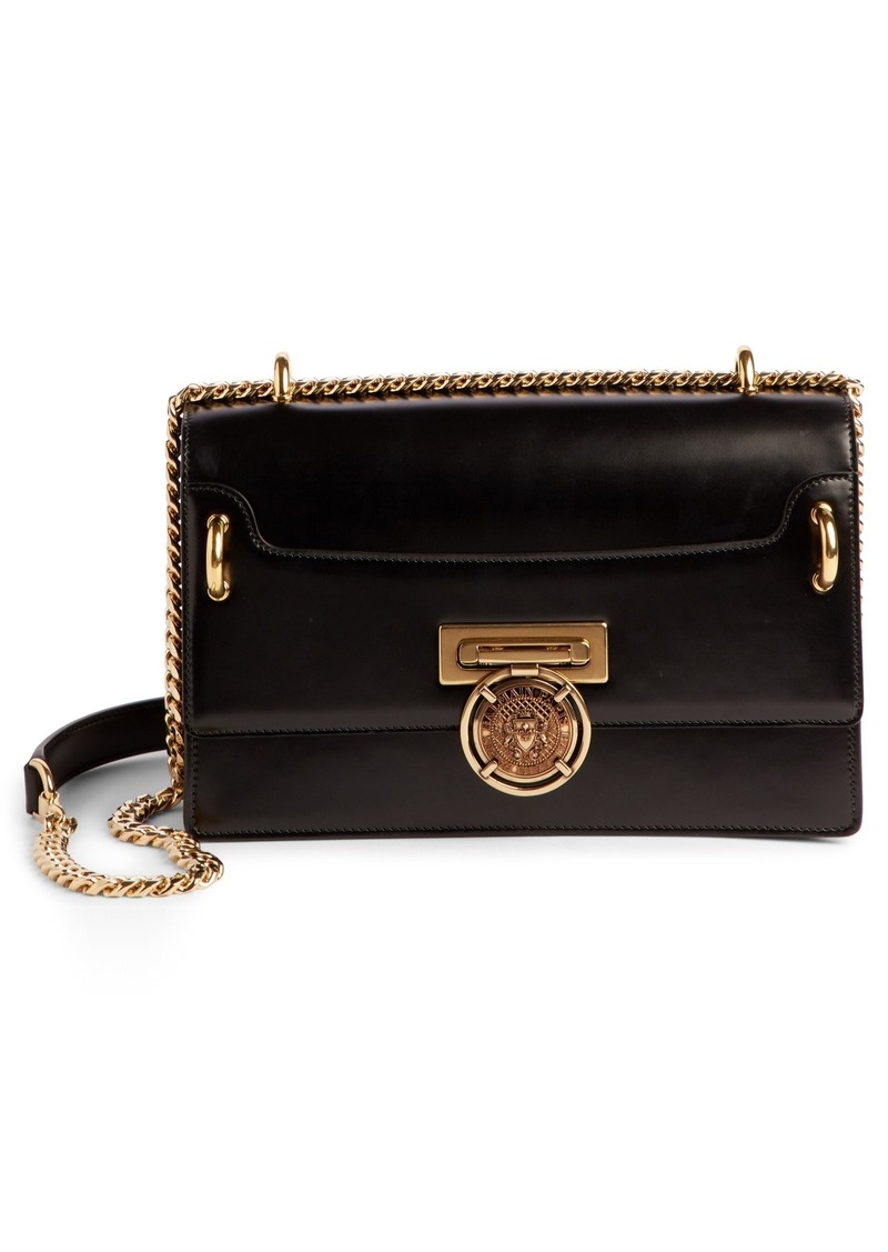 7836efe48c4 SALE! Balmain Balmain Glace Leather Box Shoulder Bag