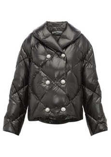 Balmain Glossy quilted-down shell jacket