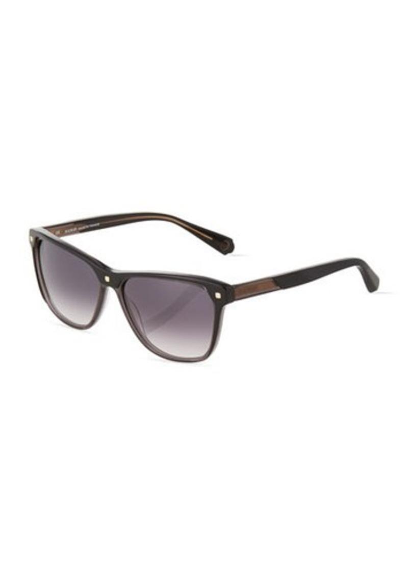 Balmain Gradient Square Plastic Sunglasses
