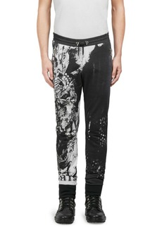 Balmain Graphic-Print Cotton Pants