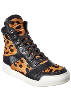 Balmain Haircalf & Leather Sneaker