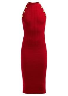 Balmain Halterneck wool-blend dress