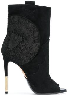 Balmain medallion-embossed ankle boots - Black