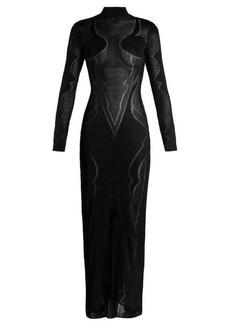 Balmain High-neck knit maxi dress