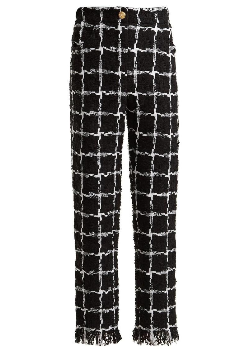 effda4186246 Balmain Balmain High-rise checked tweed trousers | Casual Pants
