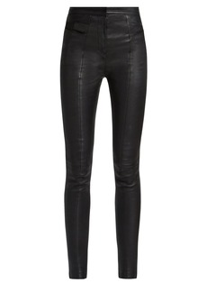 Balmain High-rise skinny leather trousers
