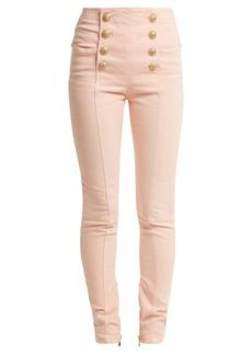 Balmain High-rise skinny-leg jeans