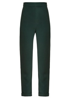 Balmain High-rise slim-leg cropped trousers