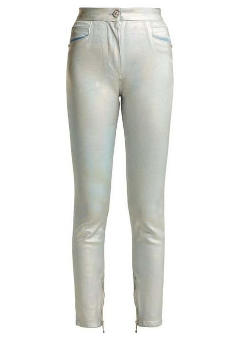 Balmain High-rise straight-leg jeans
