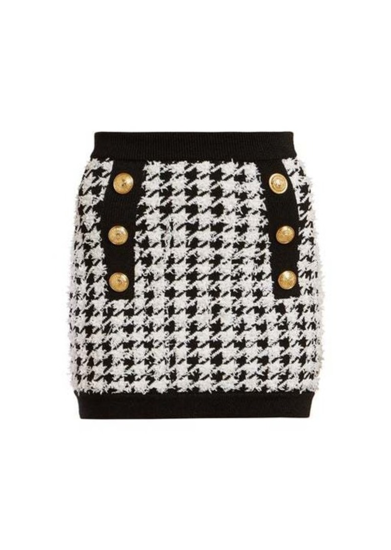 Balmain Houndstooth mini skirt